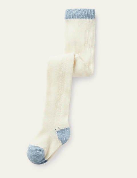 Lace Stitch Tights - Ivory