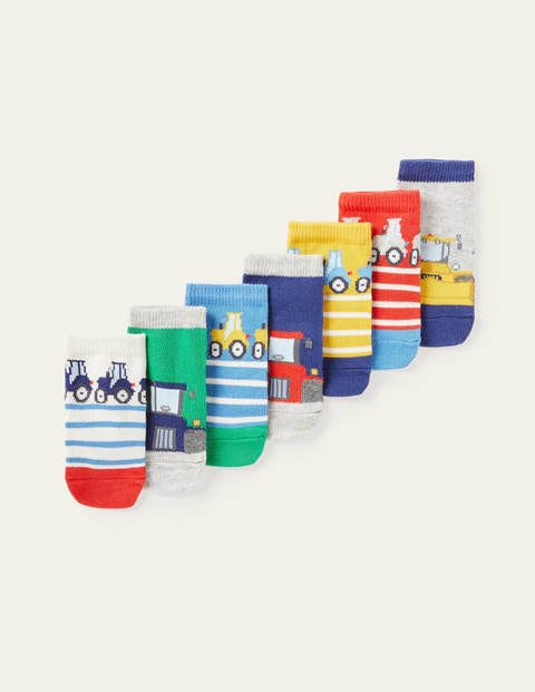 Sock Box 7 Pack - Multi Tractors