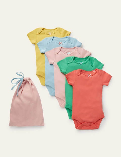 Girls 5 Pack Rainbow Bodies