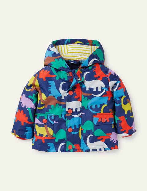 Dino 3-in-1 Printed Jacket - College Navy Paintbox Dino