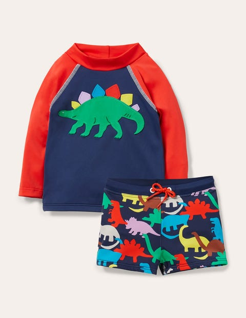 Fun Rash Vest Set - Deep Sea Paintbox Dino