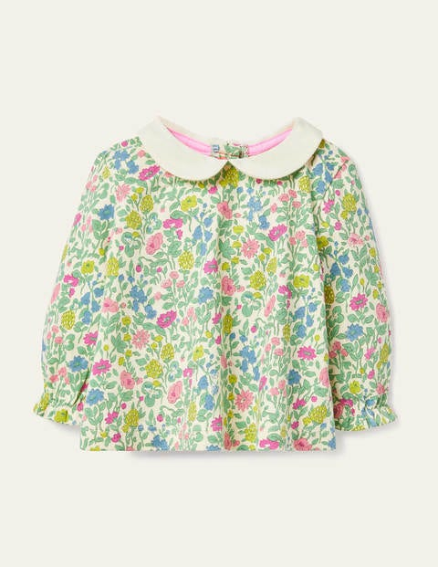 Floral Collared T-shirt - Multi Vintage Flowerbed