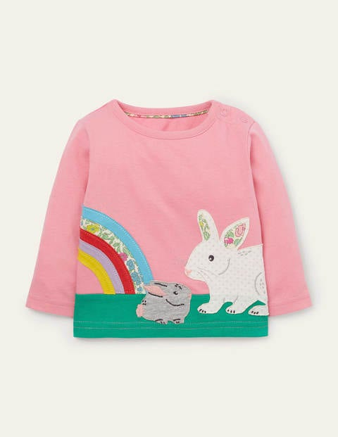 T-shirt à grand appliqué lapin