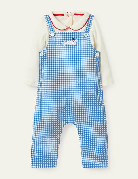 Gingham Dungaree Set