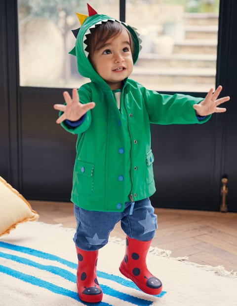 Water Resistant Dino Raincoat