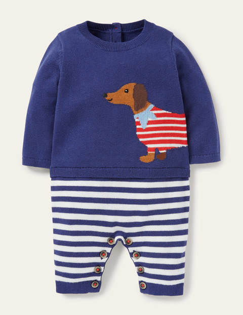 Sausage Dog Knitted Romper