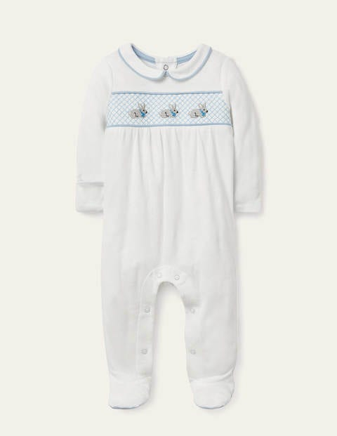 Organic Smocked Sleepsuit