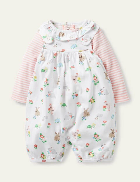 Organic Newborn Dungaree Set