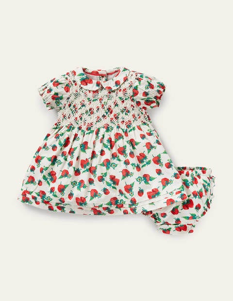 Nostalgic Smocked Woven Dress