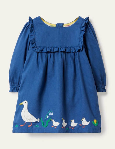 Woven Appliqué Dress - Venice Blue