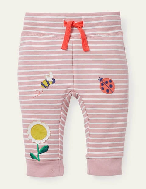 Appliqué Jersey Bottoms - Boto Pink/Ivory
