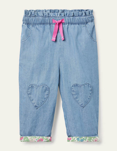 Chambray Pull-on Trousers - Light Chambray