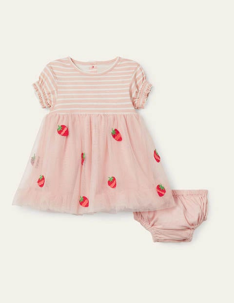 Strawberry Tulle Dress