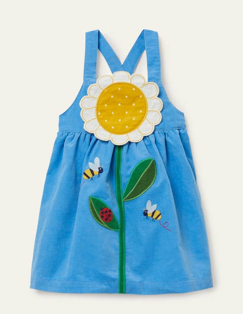 Daisy Appliqué Cord Pinnie