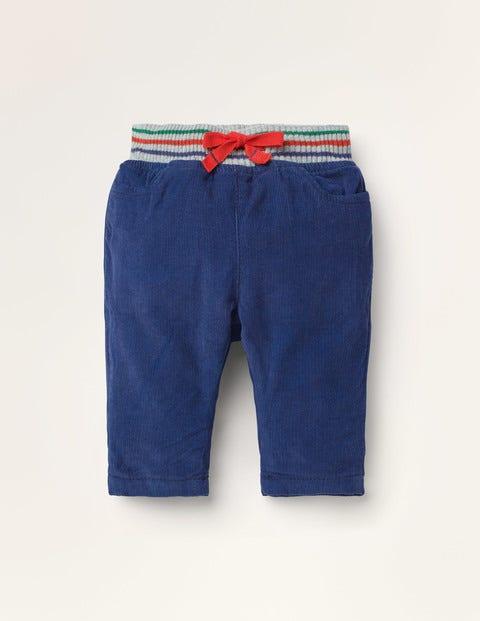 Hose mit geripptem Bund - Segelblau