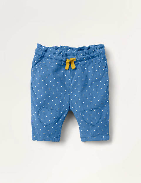 Spot Cord Pull-on Trousers - Elizabethan Blue Pin Spot