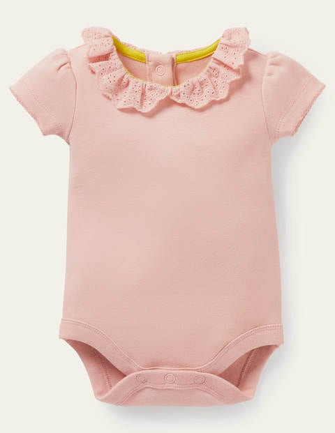 Detailed Collared Bodysuit - Provence Dusty Pink