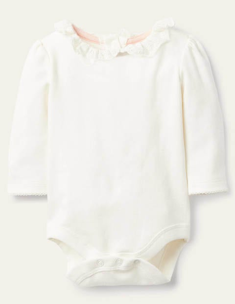 Long-sleeved Collared Body - Ivory