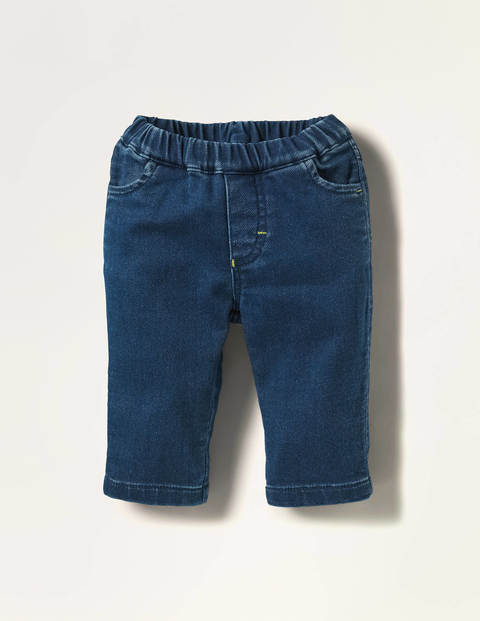 Jersey Denim Jeans - Mid Chambray