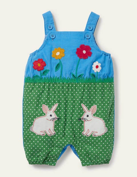 Bunny Scene Dungarees
