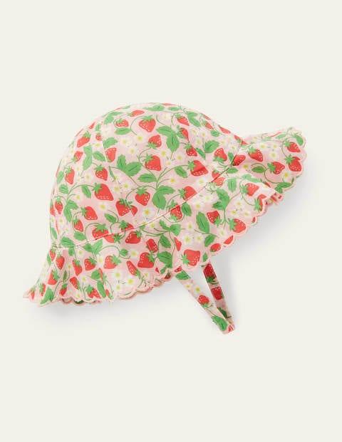 Webhut mit breiter Krempe - Delfinrosa, Erdbeere
