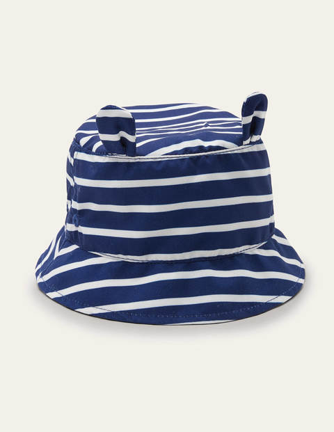 Fun Stripe Woven Hat - College Navy/Ivory