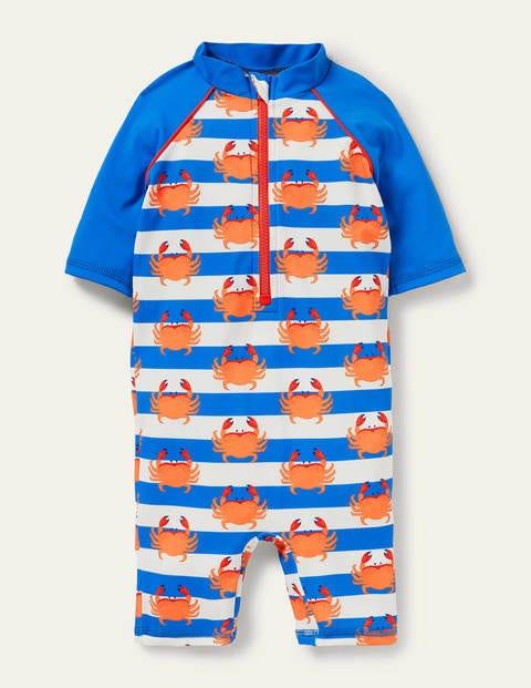 Sonnensicherer Surfanzug mit Muster - Poolblau, Krabben