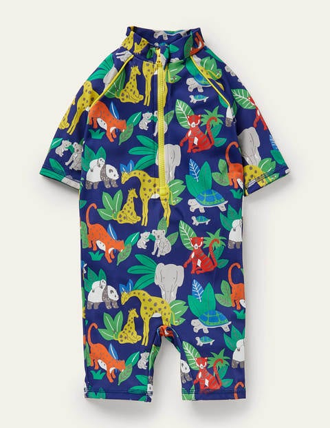 Printed Sun-safe Surf Suit - Starboard Blue Jungle