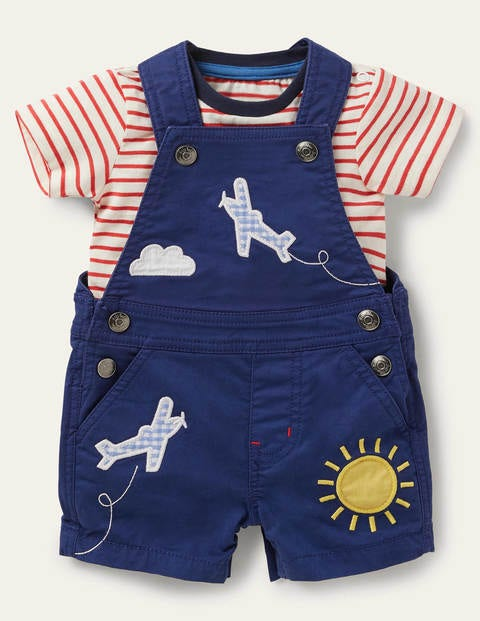 Aeroplane Dungaree Set