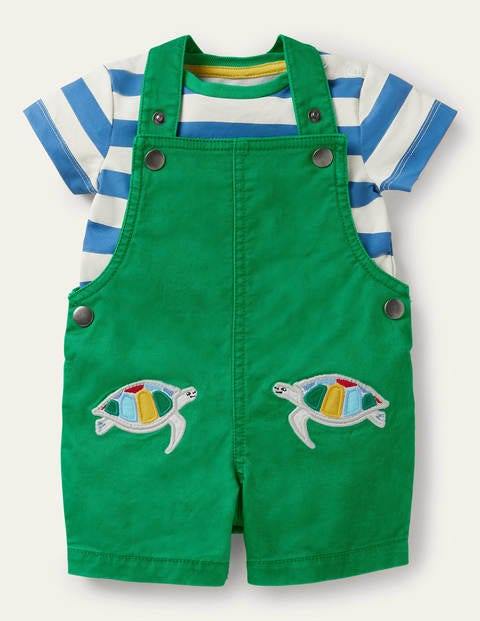Animal Patch Overalls Set