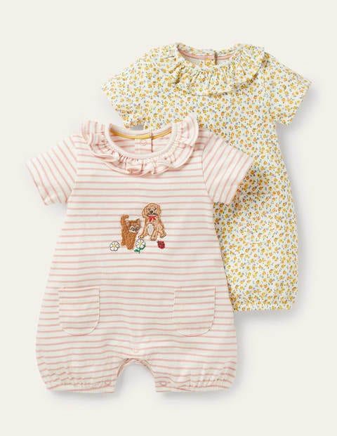 Twin Pack Jersey Rompers
