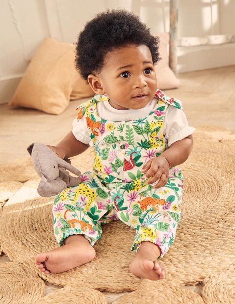 Bow Detail Romper Set - Multi Jungle