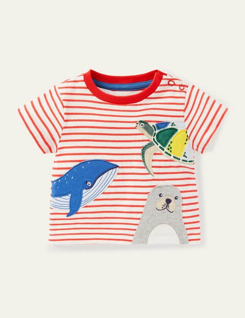 Peeking Animals Stripy T-shirt