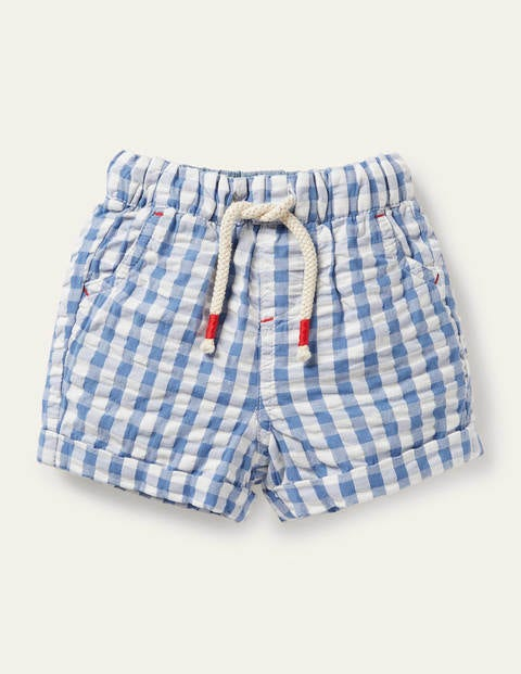 Check Woven Shorts - Seascape Blue Gingham