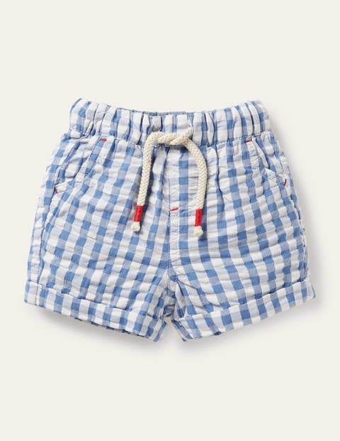 Check Woven Shorts