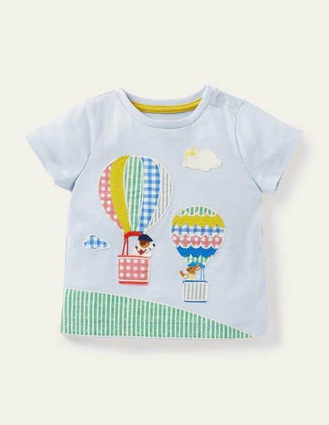 Patchwork Balloons T-shirt - Provence Blue Balloons
