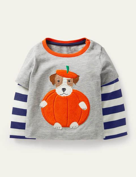 Sprout Pumpkin Layered T-shirt