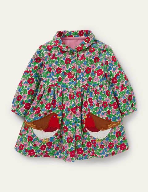 Cord-Hemdblusenkleid mit langen Ärmeln