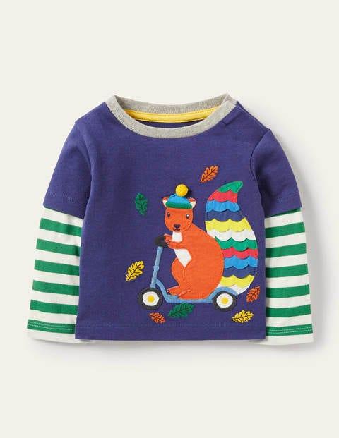 Appliqué T-shirt - Starboard Blue Squirrel
