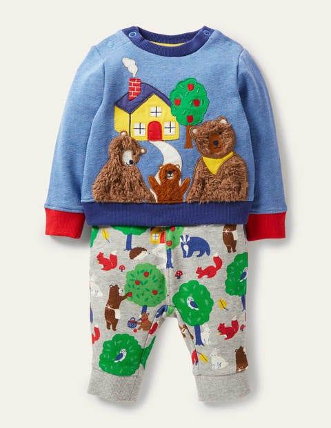 Bequemes Set aus Sweatshirt und Hose GRY Baby Boden, GRY