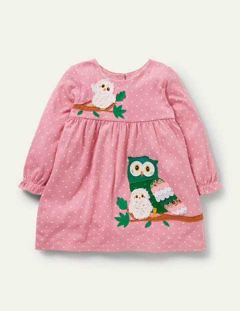 Spotty Appliqué Jersey Dress