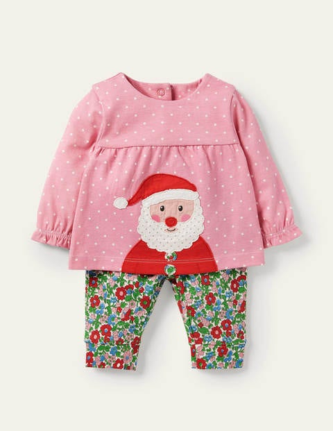 Jersey Appliqué Play Set - Vintage Bloom Father Christmas