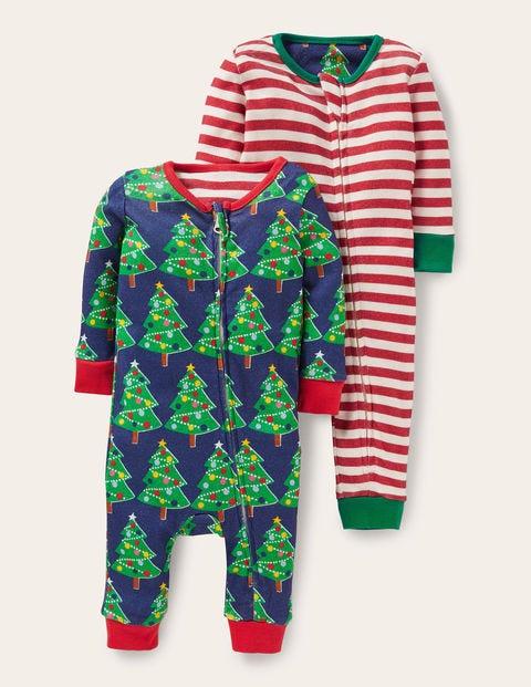 Schlafanzug mit Reißverschluss im 2er-Pack NAV Baby Boden, NAV