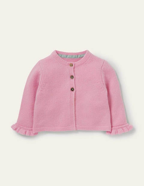 Frilly Cashmere Cardigan - Boto Pink