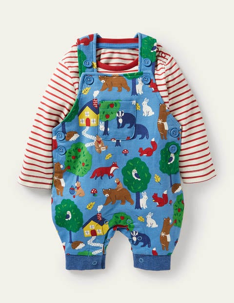 Printed Jersey Overalls Set