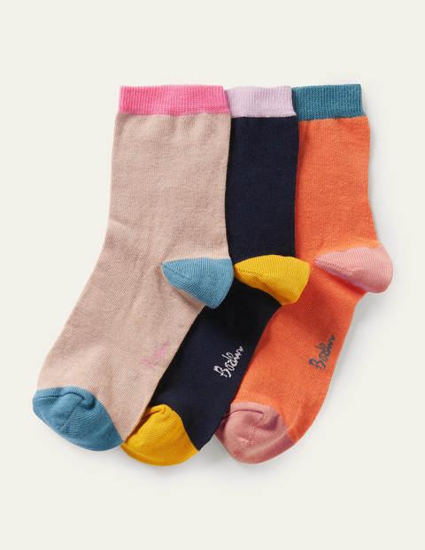 Knöchelsocken im 3er-Pack - Einfarbig