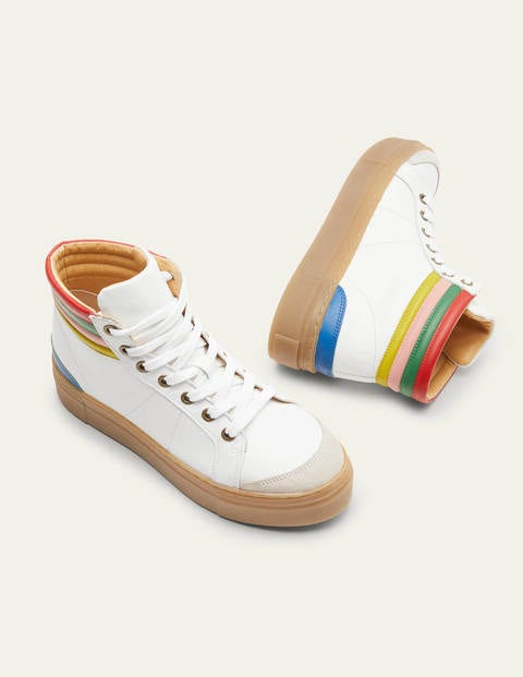 Amber High Top Trainers - White Multi