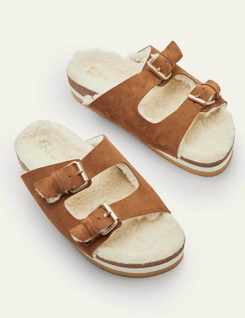 Cosy Slippers - Tan