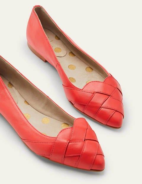 Woven Toe Ballerinas