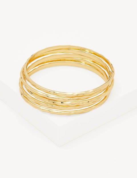 Hammered Bangles - Gold
